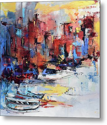 Cefalu Seaside Metal Print by Elise Palmigiani