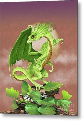 Celery Dragon Metal Print by Stanley Morrison