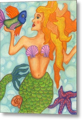 Celeste The Mermaid Metal Print