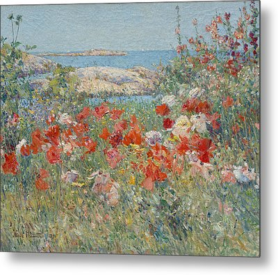 Celia Thaxter's Garden, Isles Of Shoals, Maine Metal Print by Childe Hassam