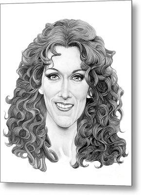 Celine Dion Metal Print by Murphy Elliott