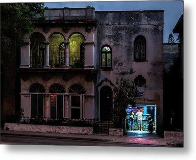 Cell Phone Shop Havana Cuba Metal Print by Charles Harden