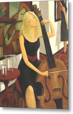 Cello Solo Metal Print by Glenn Quist