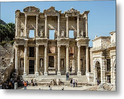 Celsus Library Metal Print