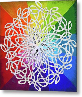 Celtic Color Interlaced 1 Metal Print