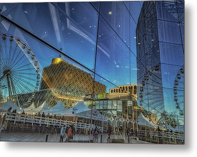 Centenary Square Reflections Metal Print