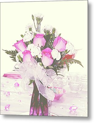Centerpiece Metal Print by Inspirational Photo Creations Audrey Woods
