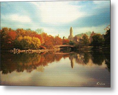 Central Park Lake Metal Print by David Klaboe