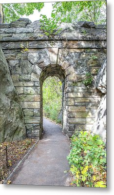 Central Park Ramble Archway Metal Print by A New Focus Photography