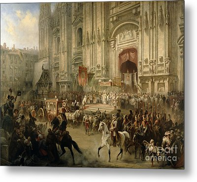 Ceremonial Reception Metal Print by Adolf Jossifowitsch Charlemagne