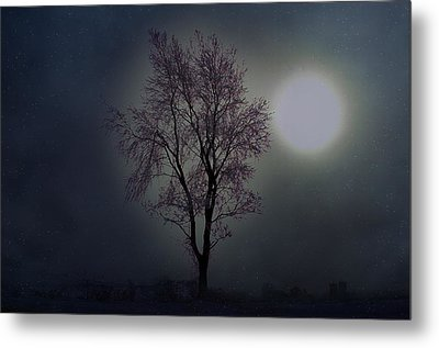 Cerulean Sunrise On Ice Metal Print by The Stone Age