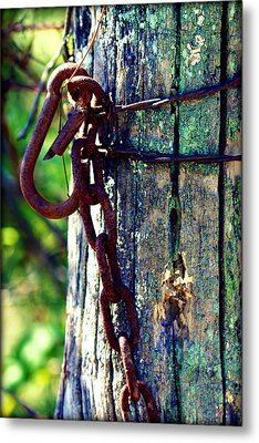 Chained Post Metal Print