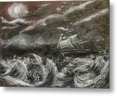 Metal Print featuring the painting Challenged by Isabella F Abbie Shores FRSA