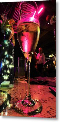 Metal Print featuring the photograph Champagne And Jazz by Lori Seaman