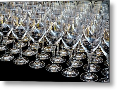 Metal Print featuring the photograph Champagne Army by Stephen Mitchell