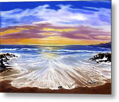 Metal Print featuring the painting Changing Tide by Sena Wilson