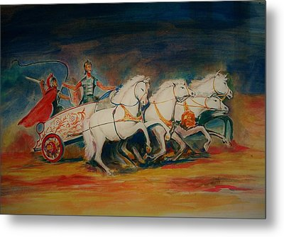 Chariot Metal Print by Khalid Saeed