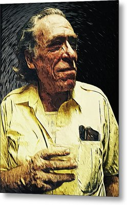 Charles Bukowski Metal Print by Taylan Apukovska