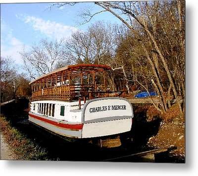 Charles E Mercer Boat - Great Falls Md Metal Print by Fareeha Khawaja