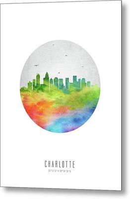 Charlotte Skyline Usncch20 Metal Print