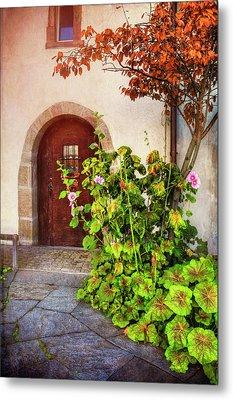 Charming Old Door In Basel  Metal Print