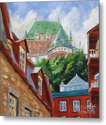 Chateau Frontenac Metal Print by Richard T Pranke