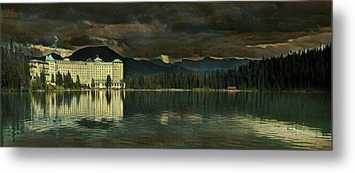 Chateau Lake Louise Metal Print by Russ Harris