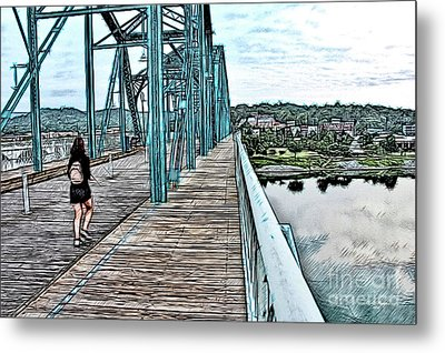 Chattanooga Footbridge Metal Print