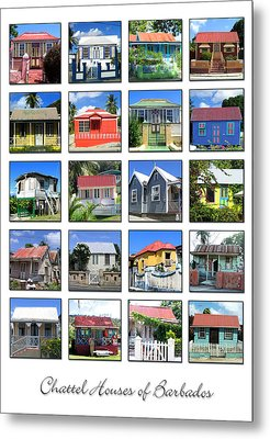 Chattel Houses Of Barbados Metal Print by Barbara Marcus