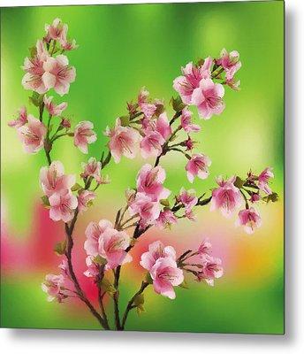 Cherry Blossom - Variation 3 Metal Print