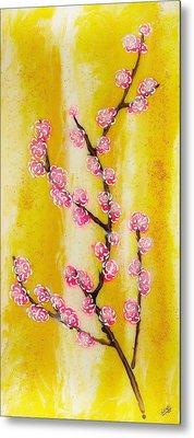 Cherry Blossoms Metal Print by Paul Tokarski