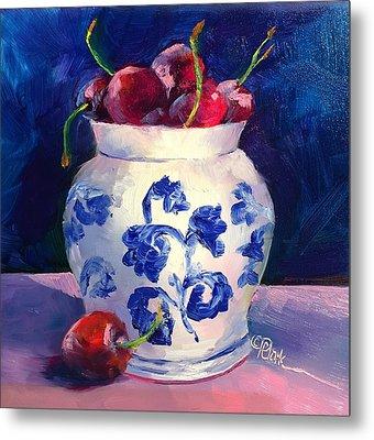 Cherry Delights Metal Print by Donna Pierce-Clark