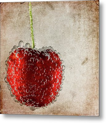 Cherry Fizz Metal Print by Al  Mueller