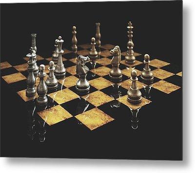 Chess The Art Game Metal Print