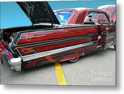 Metal Print featuring the photograph Chev Impala 1 by Bill Thomson
