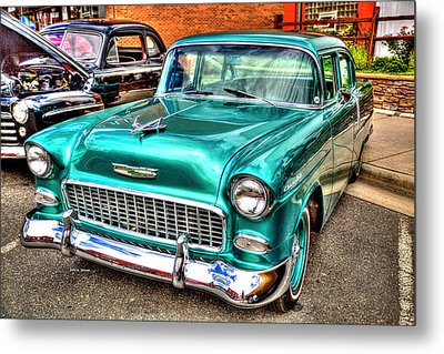 Chevy Cruising 55 Metal Print