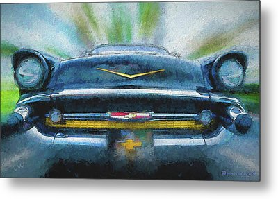 Chevy Power Metal Print by Marvin Spates