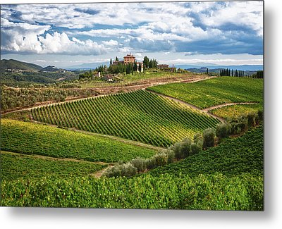 Chianti Landscape Metal Print by Eggers Photography