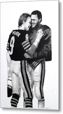 Chicago Bears Quarterbacks Metal Print
