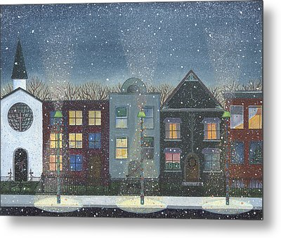 Chicago Brown Stones Metal Print by Thomas Griffin