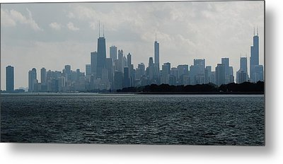 Chicago From Belmont Harbor Metal Print