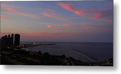Chicago Lakefront At Sunset Metal Print