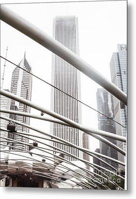 Chicago Monotone II Metal Print by Sonja Quintero
