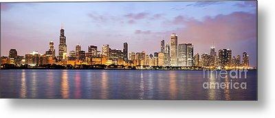 Chicago Panorama Metal Print by Paul Velgos