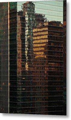 Chicago Reflected Metal Print by Steve Gadomski
