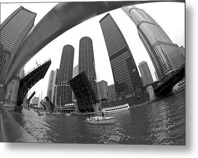 Chicago Sailboats Heading To Harbor Metal Print by Sven Brogren