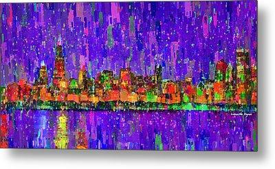 Chicago Skyline 201 - Pa Metal Print by Leonardo Digenio