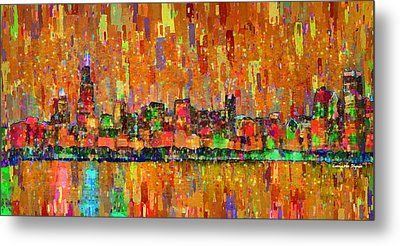 Chicago Skyline 204 - Pa Metal Print by Leonardo Digenio