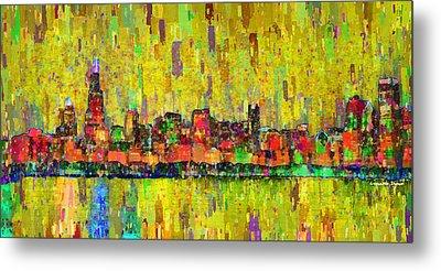 Chicago Skyline 205 - Pa Metal Print by Leonardo Digenio