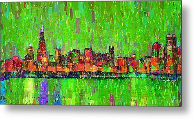 Chicago Skyline 206 - Pa Metal Print by Leonardo Digenio